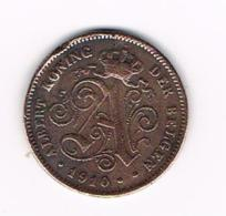 ¨¨ ALBERT I   2 CENTIEM   1910  VL - 02. 2 Centimes