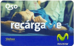Guatemala - Telefonica Movistar - Recargame Man Talking - GSM Refill, Used - Guatemala