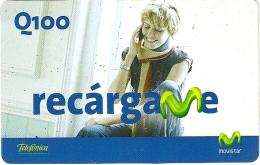 Guatemala - Telefonica Movistar - Recargame Woman Talking - GSM Refill, Used - Guatemala