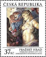 Czech Republic - 2014 - Prague Castle - Assembly Of Olympian Gods - Peter Paul Rubens - Mint Stamp - Tsjechië