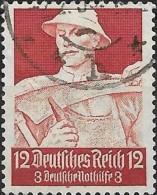 GERMANY 1934 Welfare Fund - Farmer -  12pf.+3pf. - Red  FU - Gebraucht