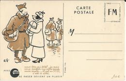 CARTE FM PUBLICITAIRE (RASOIR GIBBS) NON CIRCULEE - Marcophilie (Lettres)