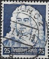 GERMANY 1935 Musicians´ Anniversaries -  25pf. - Blue (Handel)  FU - Gebraucht