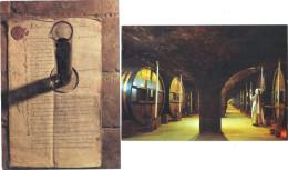 La Grande Chartreuse . 2 Cartes Postales Neuves . Le Manuscrit De 1605 Recette De La Liqueur Et Vieillissement . - Voiron