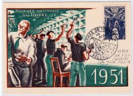 FRANCE: Timbre N° 879 Obl 1er Jour Sur Carte Maximum Le 10/03/1951. Cote Yvert 160 Euro - 1950-59