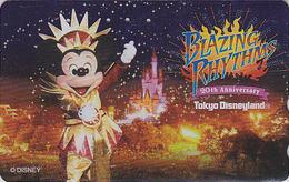 Télécarte DOREE Japon / MF-1001893 - DISNEY Disneyland - Mickey / BLAZING RHYTHMS - Japan GOLD Phonecard - Disney