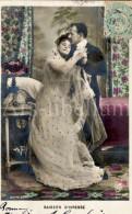 Postkaart / Postcard / CPA / Couple / Romantique / Love / Mariage / Wedding / Ed. KF Paris No 2020 / 1905 - Noces