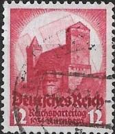 GERMANY 1934 Nuremberg Congress - Nuremberg Castle - 12pf. - Red  FU - Gebraucht