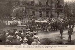5916. CPA 67 STRASBOURG GUERRE 14 18 WW1. 1918. ENTREE SOLENNELLE DU MARECHAL PETAIN. DEFILE DES TROUPES. - Strasbourg