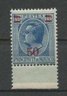 MONACO 1926 N° 108 ** Neuf = MNH Superbe Cote 6 € Prince Louis II - Unused Stamps