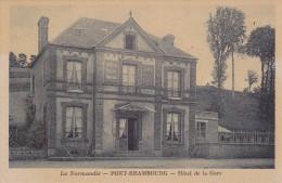 CARTE POSTALE   PONT-ERAMBOURG  14    Hotel De La Gare - France