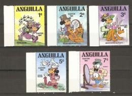 Anguilla 1981 - Disney - Pâques - Petit Lot De 5 Timbres MNH - Disney