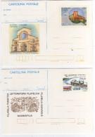 Italia 1986 1987 N. 2 Cartoline Postali Nuove COSENZA '86 Castello Svevo E LEVANTE '87 Bari Teatro Margherita - Entiers Postaux