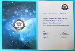 FIFA ... President Sepp Blatter ORIGINAL AUTOGRAPH On Greeting Card To Croatian Coach * Hand Signed Autographe Autogramm - Autogramme