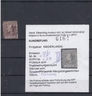 Niederland Michel Cat.No. Used 11IA Certified Short Edge Left - Period 1852-1890 (Willem III)
