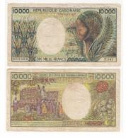 .REPUBLIQUE GABONAISE 10 000 FRS N° 003566 SERIE F.001 - Gabon