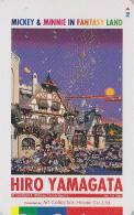 Télécarte Japon / 110-011 - DISNEY Série Art Peinture Hiro Yamagata / Mickey & Minnie In Fantasy Land - Japan Phonecard - Disney