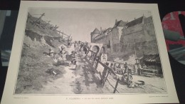 Affiche (dessin) -   LE JEU DE FUSIL (Dieppe 1795) ......   De F. FLAMENG - Affiches