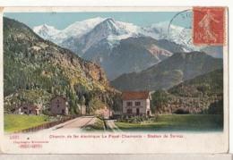 Dep 74 - Chamonix - Chemin De Fer électrique Le Fayet Chamonix - Station De Servoz : Achat Immédiat - Chamonix-Mont-Blanc