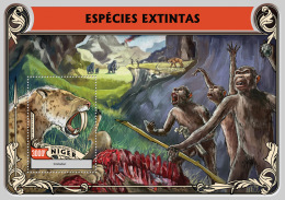 NIGER 2016 - Extinct Species S/S. Official Issue - Prehistorie