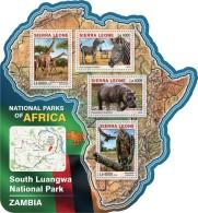 SIERRA LEONE 2016 - South Luangwa NP, Giraffes. Official Issue.