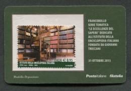 ITALIA TESSERA FILATELICA 2015 - ISTITUTO DELLA ENCICLOPEDIA ITALIANA TRECCANI - 617 - 1946-.. République