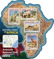 SIERRA LEONE 2016 - Amboseli NP, Giraffe. Official Issue.