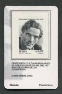 ITALIA TESSERA FILATELICA 2015 - ANNIVERSARIO SCOMPARSA PIER PAOLO PASOLINI - 621 - 6. 1946-.. Republik