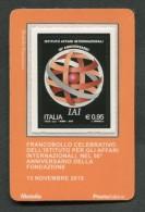 ITALIA TESSERA FILATELICA 2015 - ISTITUTO AFFARI INTERNAZIONALI - 622 - 6. 1946-.. Republic