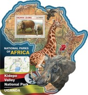 SIERRA LEONE 2016 - Kidepo Valley NP, Warthog S/S. Official Issue. - Other