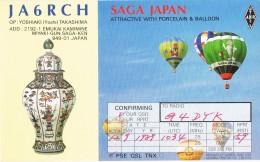 19036. Tarjeta Radio Aficionado JA6RCH. Saga Japan, Japon 1989. Balloon - Japan