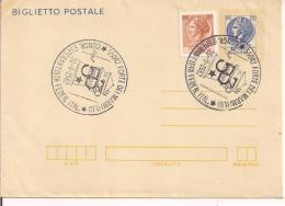 """""""CONGRESSO ESPERANTISTA FEDER. ITAL."""" ANNULLO SPECIALE FIGURATO SU B.P.-FORTE DEI MARMI,LUCCA,1982- - Esperanto"""