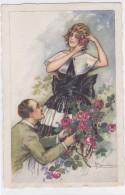 CARD BUSI DICHIARAZIONE D'AMORE COPPIA  ROSE  - FP -V-2-  0882-25740 - Busi, Adolfo