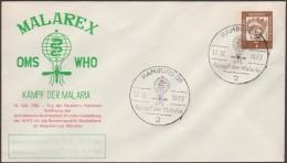 Berlin 1962. Entier Postal Timbré Sur Commande. Malarex, Lutte Contre La Malaria Ou Paludisme. MS. Oblitéré Hambourg - Disease