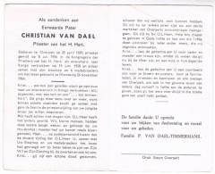 Dp. Pater. Van Dael Christian. ° Overpelt 1929 † Wamba (Congo) 1964 (Vermoord) - Religion & Esotericism
