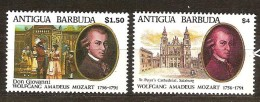 Antigua & Barbuda 1991 Yvertn° 1382-1383 *** MNH Cote 8,00 Euro Musique Mozart - Antigua Et Barbuda (1981-...)