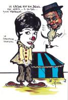 CPM Cirque Cirk Circus Hommage Annie FRATELLINI / ZAVATTA Tirage Limité Illustrateur JIHEL / LARDIE - Lardie