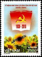 Vietnam - 2010 - 80th Founding Anniversary Of Vietnam Communist Party - Mint SPECIMEN Stamp - Vietnam