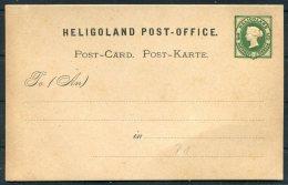 Heligoland Queen Victoria Postal Stationery Postcard - Héligoland