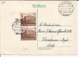 EMPIRE ALLEMAND - 2 TIMBRES SUR CARTE ET CAD GRUSSAU DU 26/06/1941 - Lettres & Documents