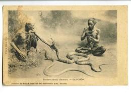 17816   -   Rangoon   -   Burmese Snake Charmers   -   Birmanie - Myanmar (Burma)