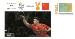 Spain 2016 - Olympic Games Rio 2016 - Gold Medal Table Tennis Male China Cover - Juegos Olímpicos