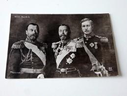 Carte Postale Ancienne : Nos Alliés, 3 Monarques - War 1914-18