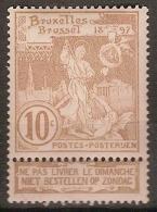 Nr. 72 ** MNH Postfris Zonder Plakker En In Zéér Goede Staat ! Inzet Aan 8 € ! - 1894-1896 Exhibitions
