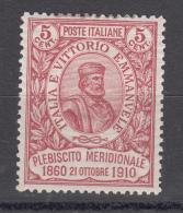 Regno D´Italia - 5+5 Cent. ** Cinquantenario Del Risorgimento In Sicilia (ottima Centratura) - Nuovi