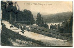 - St-YGNY De VERS - ( Rhône ), Le Viaduc, Vaches Et Fermière, écrite, En 1936 ,  TBE, Scans - Sonstige Gemeinden