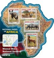 Sierra Leone 2016, National Parks, Kenia, Leopard, Rhino, Antilopes, 4val In BF