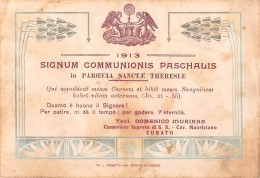 """06208 """"TORINO - PARROCCHIA SANTA TERESA - COMUNIONE PASQUALE 1913"""" IMM. RELIG. ORIGIN. - Santini"""