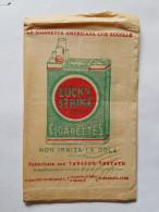 Raro Sacchetto Carta Con Pubblicità LUCKY STRIKE Anni '30 - Tabacco (oggetti Legati)