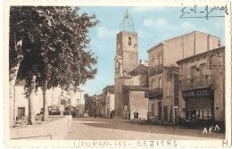 -34-  LIEURAN  Les  BEZIERS Rue Principale écrite TTB - France